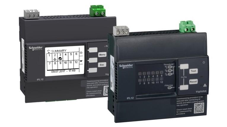 EcoStruxure integra detetores de falhas de isolamento Vigilohm IFL