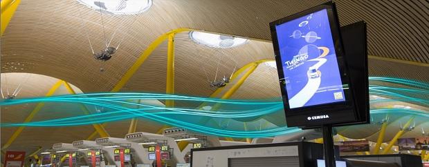 Aeroportos espanhóis recebem novos painéis informativos da Panasonic