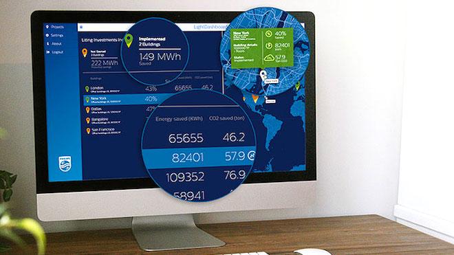 Sistema de iluminação Philips gera poupança em edifícios empresariais
